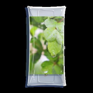 ソフトクリーム屋さんの水も滴るいい葉っぱ Clear Multipurpose Case