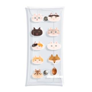 ふくふく猫と狐とリス Clear Multipurpose Case