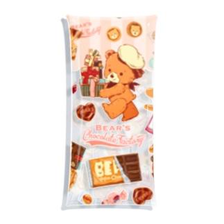 クマのチョコレート工場 Clear Multipurpose Case