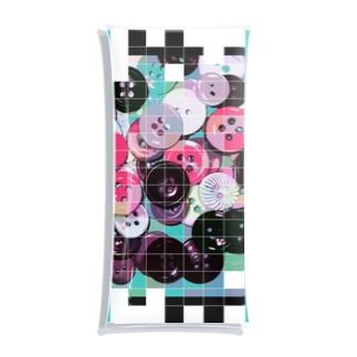 colorful button Clear Multipurpose Case