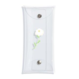 おやなぎあみの儚げなお花 Clear Multipurpose Case