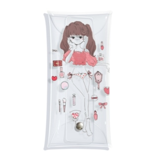 いちごの女の子 Clear Multipurpose Case