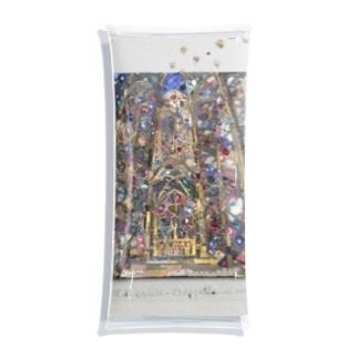 YOKO HASEGAWA のサントシャペル教会のステンドグラス Clear Multipurpose Case
