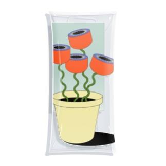 窓辺のお花 Clear Multipurpose Case