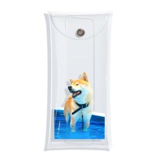 足が短く見える犬 Clear Multipurpose Case