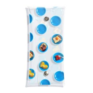 青いお皿のドット Clear Multipurpose Case
