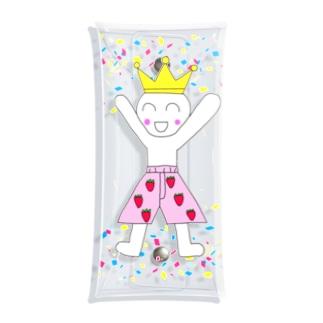 王様のパンツはいちごのパンツ Clear Multipurpose Case