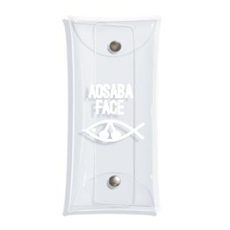 アオサバフェイスホワイト Clear Multipurpose Case
