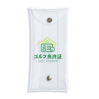 ゴルフ免許証 Clear Multipurpose Case