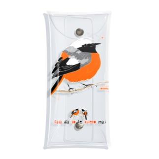 MARU ジョビ丸(大)まるい小鳥 まる過ぎる ジョウビタキ Clear Multipurpose Case