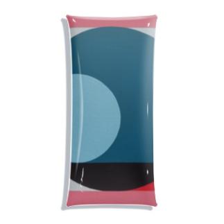 Geometric Letter series - Berry Mint 'Q' Clear Multipurpose Case
