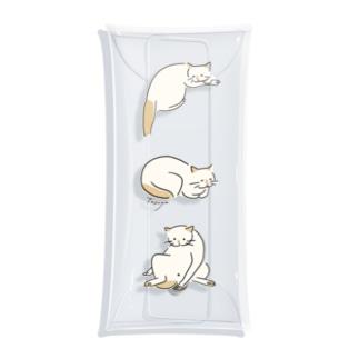 シェリ3ポーズ(縦) Clear Multipurpose Case