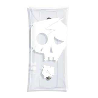 Sad Skull Case Clear Multipurpose Case