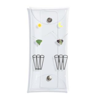 カマキリの昼と夜の複眼(絵文字、背景透過ver) Clear Multipurpose Case