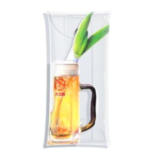 カコ鉄の飲酒。 Clear Multipurpose Case