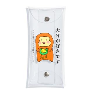 大分の猿(カボス) Clear Multipurpose Case