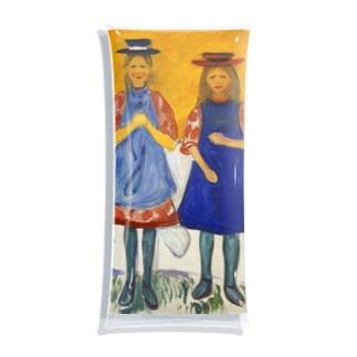 エドヴァルド・ムンク《青いエプロンの2人の少女》 Clear Multipurpose Case