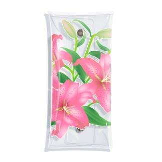 ピンクの百合 Clear Multipurpose Case