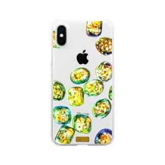 歯車キャンディドロップ Clear smartphone cases