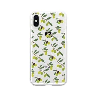 オリーブ Clear smartphone cases