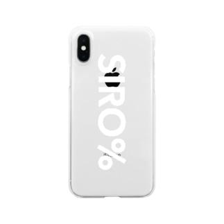 SIRO%シンプルロゴ(White) Clear smartphone cases