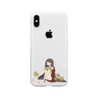 ファラオ君と女 Clear smartphone cases