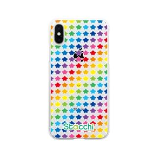 星野さん マルチカラー Clear smartphone cases