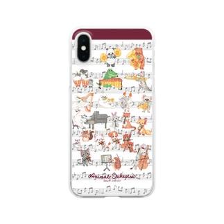 アニマルオーケストラ Clear smartphone cases