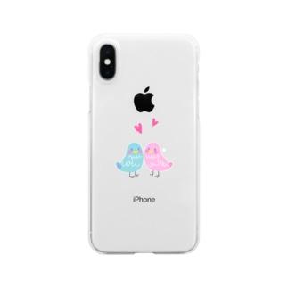 ことりシリーズクリアスマートフォンケース Clear smartphone cases