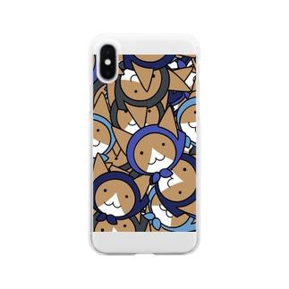 ねこ忍者群 Clear smartphone cases
