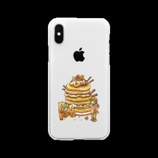 makoto_umemuraのベリーパンケーキ クリアスマートフォンケース