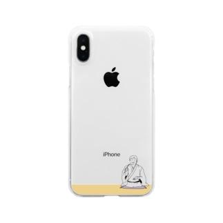 そば好き落語家さん Clear smartphone cases