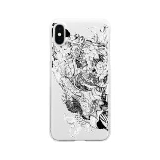 カラーの花 Clear smartphone cases