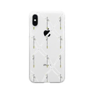 Daphneの電信柱(透明) Clear smartphone cases