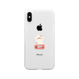 ねこ缶 Clear smartphone cases