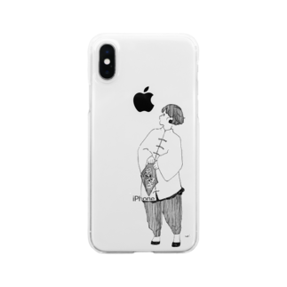 aoiのチャイニーズガール Clear smartphone cases