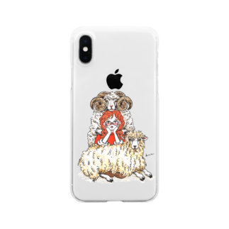 kameのひつじさん Clear smartphone cases