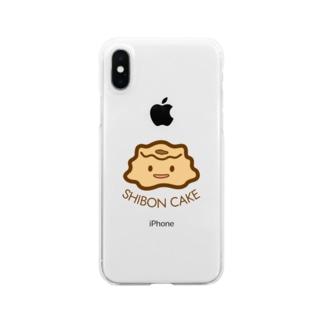 しぼんケーキ Clear smartphone cases