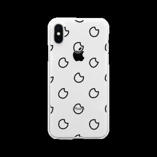 nyoroのドットお米 Clear smartphone cases
