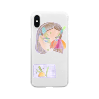 sunset girl Clear smartphone cases