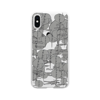 OG_officialの無限ブルーブリ Clear smartphone cases