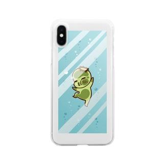 河童の若様なるるぅ 水中ぶくぶく Clear smartphone cases