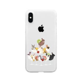 うしゃんぱんたわー Clear smartphone cases