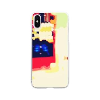 カラフルブロック Clear smartphone cases