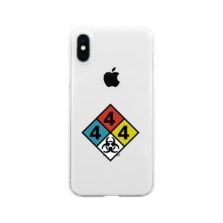 NFPA 704 バイオハザードマーク Clear smartphone cases