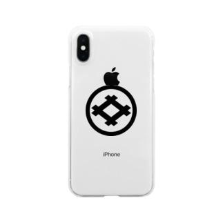 丸に井桁 Clear smartphone cases
