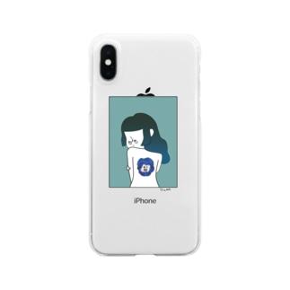 背中って喋るよ Clear smartphone cases