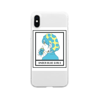 UNDER BLUE GIRL Clear smartphone cases