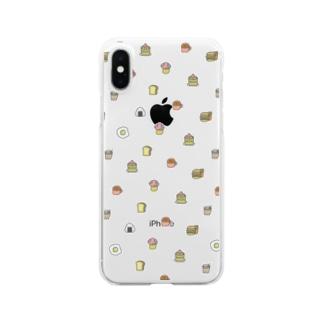 もぐもぐfoods Clear smartphone cases