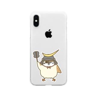 伊達政宗すずめさん Clear smartphone cases